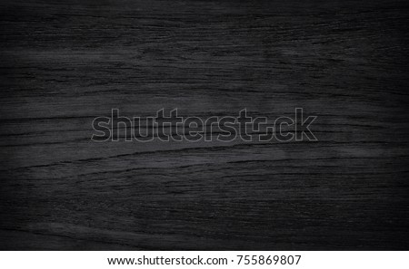 Black wood board  background