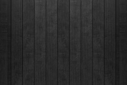 Black wood fence texture and background seamless