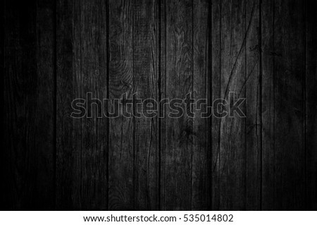 Black wood. Grunge background/ Blackboard #535014802