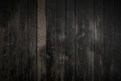 Black wood texture background coming from natural tree. Old wooden panels that are empty and beautiful patterns.