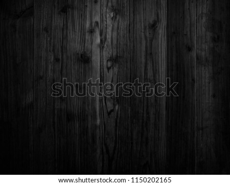 Black wood texture background coming from natural tree. Wooden panel with beautiful patterns. Space for work #1150202165