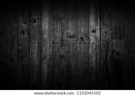 Black wood texture, dark wood background With space for designing your work. #1102045502