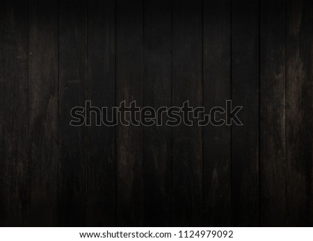 Black wood texture, dark wood background With space for designing your work. #1124979092