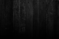 Black wooden background.Grunge texture.Board