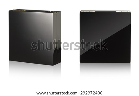 Black, Wooden Jewellery Box, isolated on white  #292972400