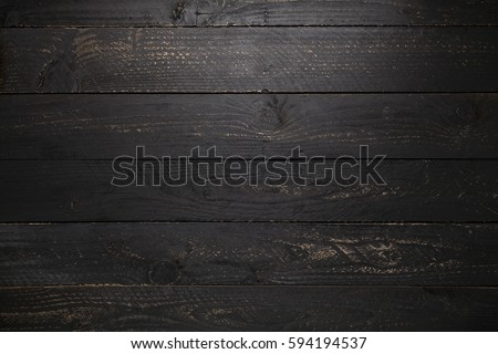 Black Wooden Table Texture Background 594194537