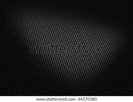 Black woven carbon fibre surface curved form soft shadows