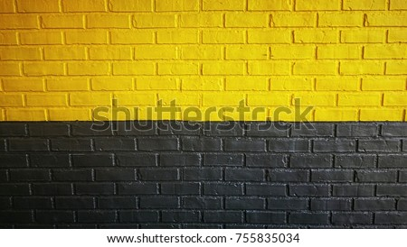 Black yellow brick wall #755835034