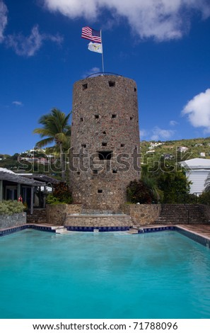 Blackbeard's tower in Charlotte Amalie on the island of St Thomas in the US Virgin Islands
