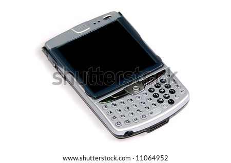 blackberry pda cellphone isolated on white background