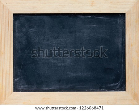 741bad877b068b Blackboard chalkboard chalk board in wooden frame as a background   1226068471
