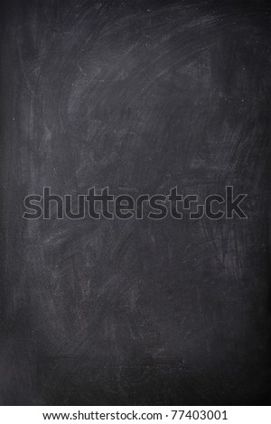 Blackboard / Chalkboard empty blank sign vertical. Used feel with great texture. - stock photo
