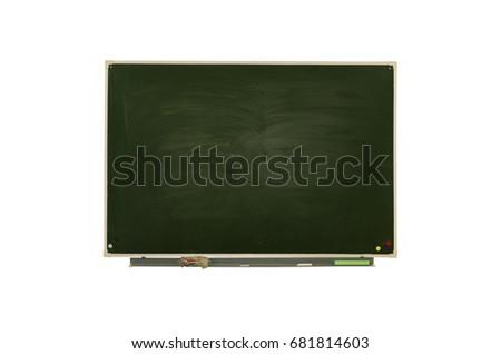 Blackboard (Chalkboard) isolated on white. Education background. #681814603