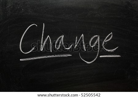 Blackboard concept for the word Change