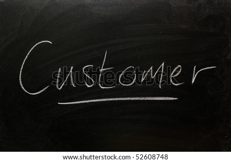Blackboard concept for the word Customer