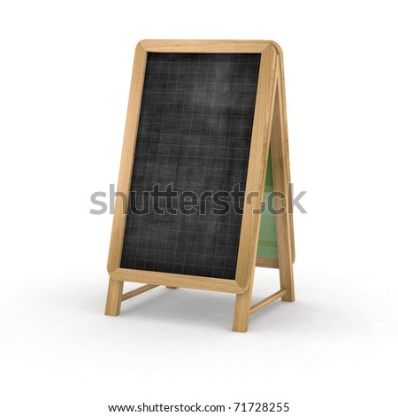 blackboard for restaurant 3d illustration