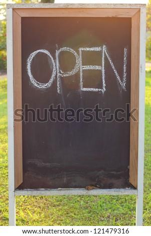 Blackboard open.