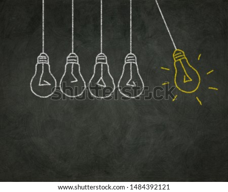 Blackboard special, different, leader and unique concept image