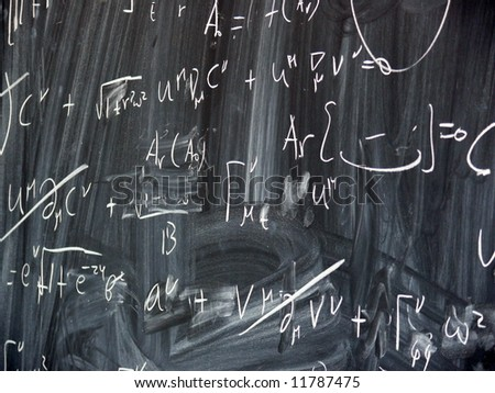 blackboard with formulae