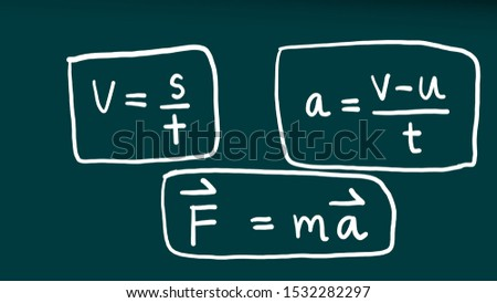 blackboard with formulas physics,Science equation