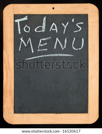 "Blackboard with ""Today's Menu"""