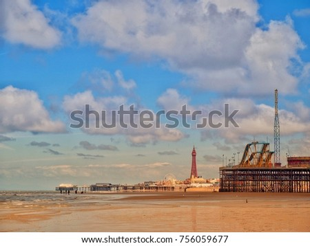 Blackpool Victorian Pier. #756059677