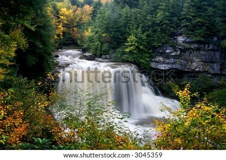 Blackwater fällt West Virginia im horizontalen Herbst - stock photo