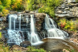 Blackwater Falls in State Park in West Virginia