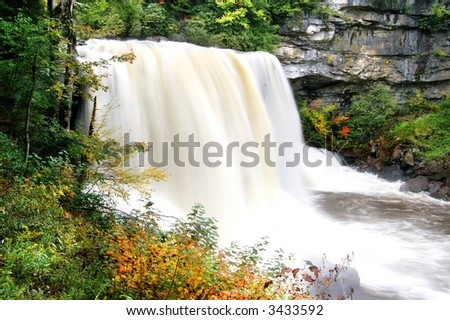 Blackwater Falls West Virginia In Autumn