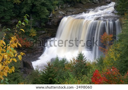 Blackwater Falls West Virginia in Autumn Horizontal - stock photo