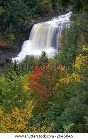 Blackwater Falls West Virginia in Autumn Vertical
