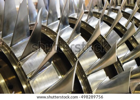 blades of the gas turbine #498289756