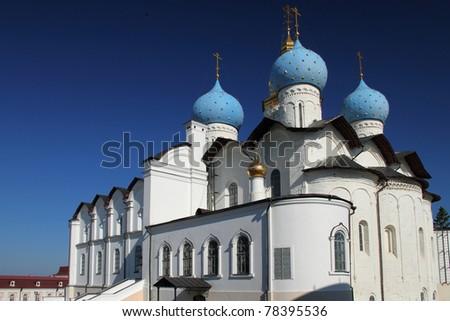 Blagoveshchensk cathedral in Kazan kremlin. Tatarstan.