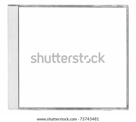 blanck cd cover isolated on white background