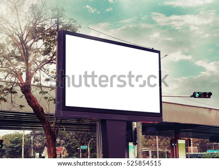 blank adverting billboard