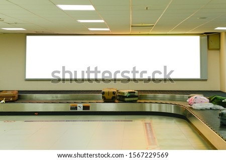blank advertising billboard at airport background large LCD advertisement #1567229569