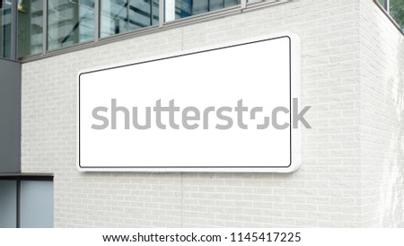 blank advertising billboard at airport,Mock up Poster media template Ads display in Subway station escalator #1145417225