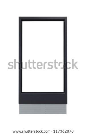 blank advertising billboard isolated on white background - stock photo