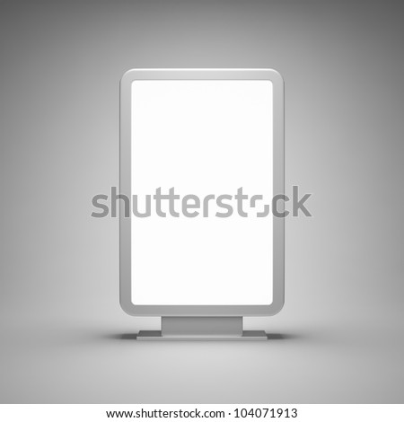 Blank advertising billboard on gray background