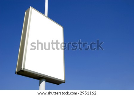 blank advertising billboard ready for your ad