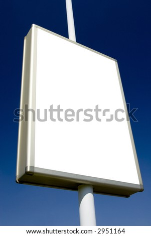 blank advertising billboard ready for your ad - stock photo