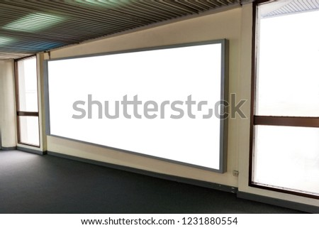 Blank advertising, Blank board for large media and public relations within the office building. #1231880554