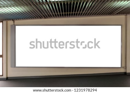 Blank advertising, Blank board for large media and public relations within the office building.