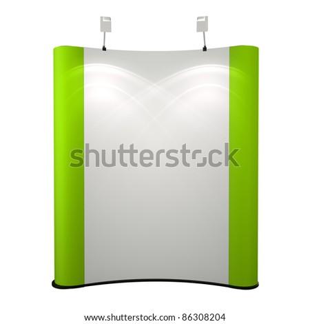 blank advertising module - stock photo