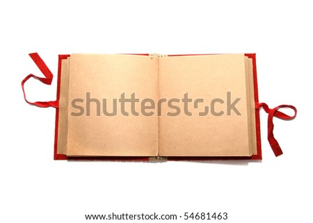 blank album - stock photo