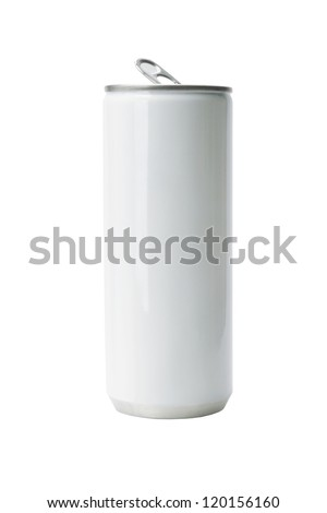 Blank Aluminium Drink Can on White Background