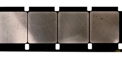 blank and empty 16mm movie film strip, just blend in your content to get that old film effect
