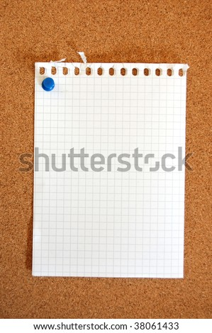 blank and empty sheet of paper with copyspace for text message