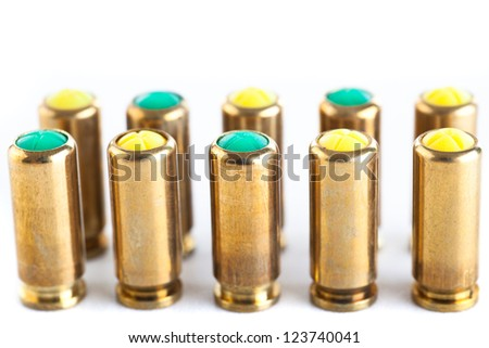 Blank and gas cartridges for pistols