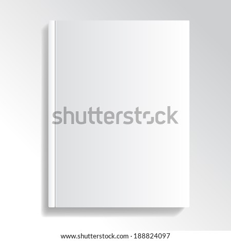 Blank and white cover illustration for your designs. #188824097